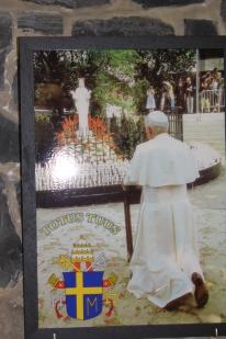 Vierge au Coeur d'Or - Beauraing - Pape Jean-Paul II